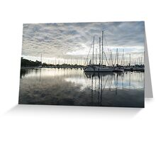 Downy Soft Clouds at the Marina Greeting Card