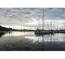 Downy Soft Clouds at the Marina Photographic Print
