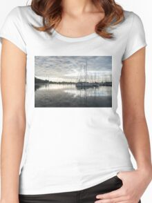 Downy Soft Clouds at the Marina Women's Fitted Scoop T-Shirt
