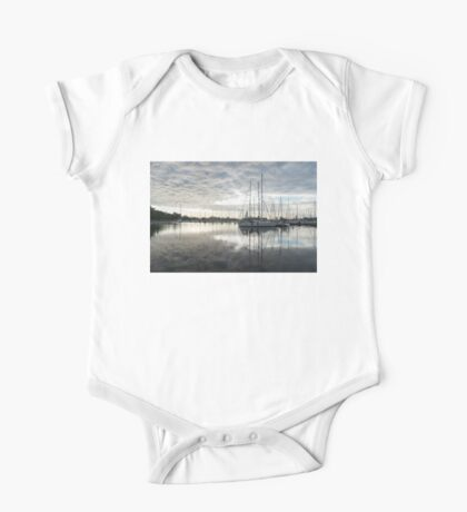 Downy Soft Clouds at the Marina One Piece - Short Sleeve