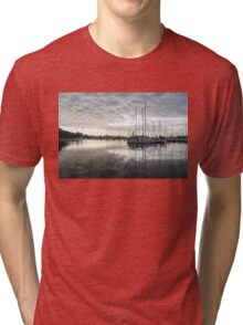 Downy Soft Clouds at the Marina Tri-blend T-Shirt