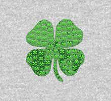 Lucky clover made with clover emoji's Unisex T-Shirt