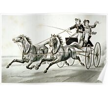 A fast team - Out on the loose - 1871 Poster