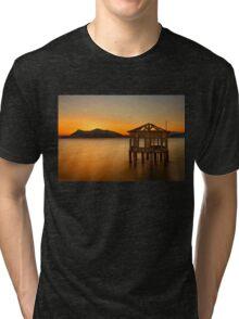 Sunset of the forgotten pavillion Tri-blend T-Shirt