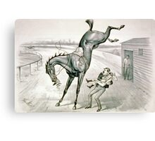 A feather weight mounting a scalper - 1881 Canvas Print