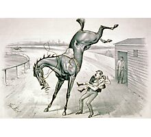 A feather weight mounting a scalper - 1881 Photographic Print