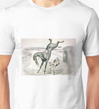 A feather weight mounting a scalper - 1881 Unisex T-Shirt