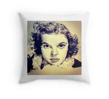 Judy Garland Portrait Throw Pillow