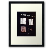 Doctor Who TARDIS Doors - Police Box Framed Print