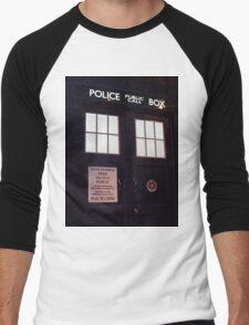 Doctor Who TARDIS Doors - Police Box Men's Baseball ¾ T-Shirt