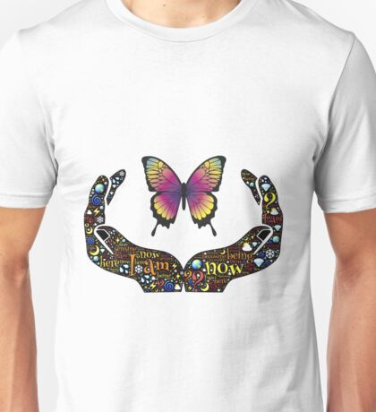 Butterfly in the hands - emojis Unisex T-Shirt