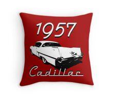1957 Cadillac Throw Pillow