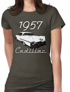 1957 Cadillac Womens Fitted T-Shirt