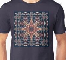 Fractal Web in Navy Unisex T-Shirt