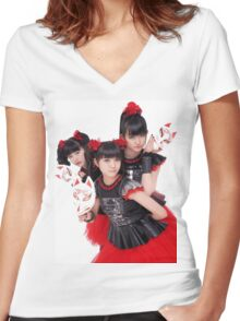 BABYMETAL - Day Of The Fox Women's Fitted V-Neck T-Shirt
