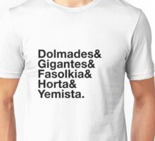 Greek Veggies Ampersand Design Unisex T-Shirt
