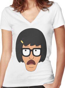 Tina Belcher Women's Fitted V-Neck T-Shirt