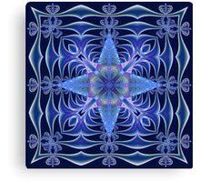 Fractal Web in Blue Canvas Print