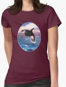 Killer Whales In The Arctic Ocean Womens Fitted T-Shirt