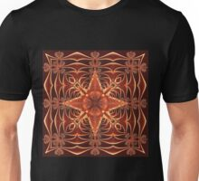 Fractal Web in Copper Unisex T-Shirt