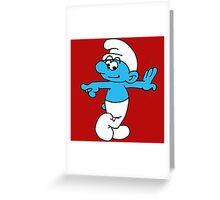 smurf Greeting Card