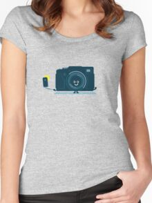 Character Building - Selfie camera Women's Fitted Scoop T-Shirt