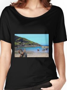 Port Issac in Cornwall, United Kingdom Women's Relaxed Fit T-Shirt