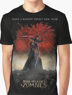 Pride and Prejudice and Zombies Movie - Have A Bloody Lovely New Year Graphic T-Shirt