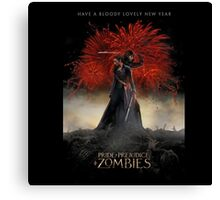 Pride and Prejudice and Zombies Movie - Have A Bloody Lovely New Year Canvas Print