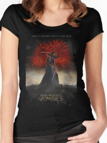 Pride and Prejudice and Zombies Movie - Have A Bloody Lovely New Year Women's Fitted Scoop T-Shirt
