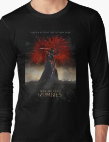 Pride and Prejudice and Zombies Movie - Have A Bloody Lovely New Year Long Sleeve T-Shirt