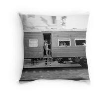 Commuter train, Colombo Sri Lanka Throw Pillow