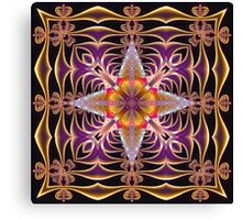Fractal Web in Purple Canvas Print