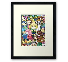 Animal Crossing Characters Collage Framed Print