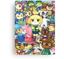Animal Crossing Characters Collage Canvas Print