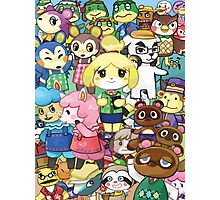 Animal Crossing Characters Collage Photographic Print