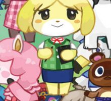 Animal Crossing Characters Collage Sticker