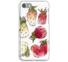 Watercolor Strawberries iPhone Case/Skin