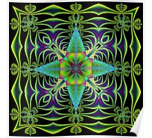 Fractal Art in Green Poster