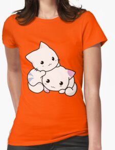 Cute anime kittens Womens Fitted T-Shirt