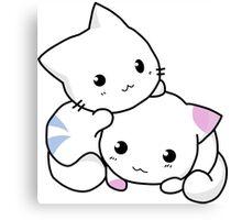Cute anime kittens Canvas Print