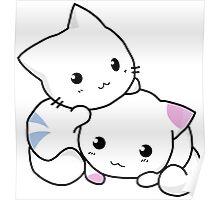 Cute anime kittens Poster