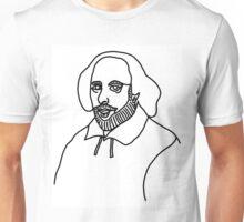 William Shakespere One Line Unisex T-Shirt