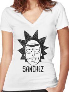 Heisenberg Rick Sanchez Women's Fitted V-Neck T-Shirt