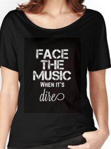 Marianas Trench Face The Music Black Women's Relaxed Fit T-Shirt