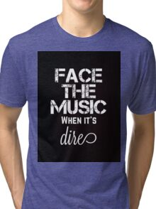 Marianas Trench Face The Music Black Tri-blend T-Shirt