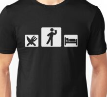 eat sleep dart Unisex T-Shirt