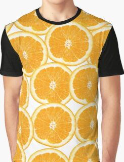 Summer Citrus Orange Slices Graphic T-Shirt