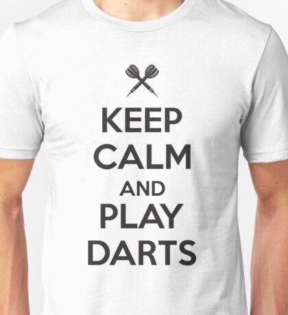 Keep calm and play darts Unisex T-Shirt
