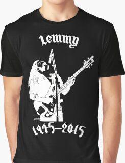 "RIP Ian ""Lemmy"" Kilmister (Motorhead) Graphic T-Shirt"